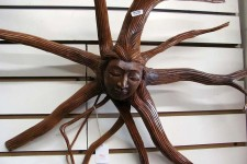 Carved Wood Medusa