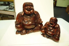 Wood, Happy Buddha