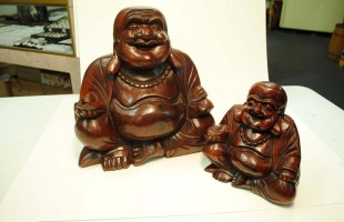Wood, Happy Buddha
