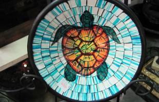 Mozaic Glass Turtle