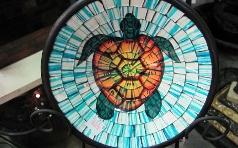 Mozaic Glass Turtle