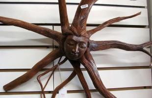 Carved Wood Medusa